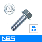 Gr.8.2 Serrated Hex Flange Machine Bolts