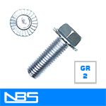 Gr.2 Serrated Hex Flange Machine Bolts