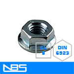 DIN 6923 Serrated Flange Nuts